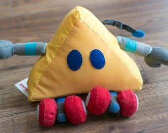 Yellow Trig - Wee Plush Robot