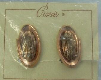 Mid Century Renoir Copper Earrings Original Packaging