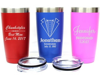 Personalized Tumbler,Wedding Gifts,Groomsmen Gift,20oz Tumbler,Engraved Tumbler,Corporate Gift,Gift for Him,Powder Coated,LTM923_24_25