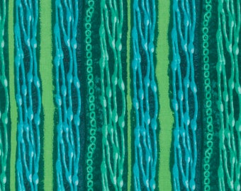 Ghost Beads Green Nel Whatmore Freespirit Fabric 1 yard