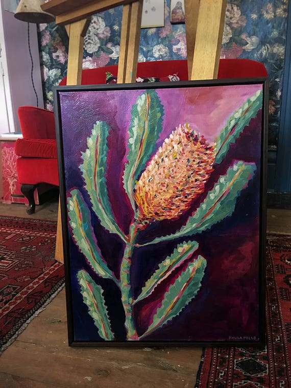 Banksia Love No.2 Original Oil Painting Wall Art