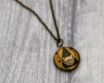 Gnome Locket Necklace