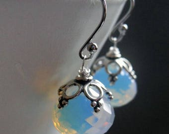 "XMAS IN JULY 20% off, Opalite sparkle dangle earrings, Seriously, ""Wow"" Opalite earrings"