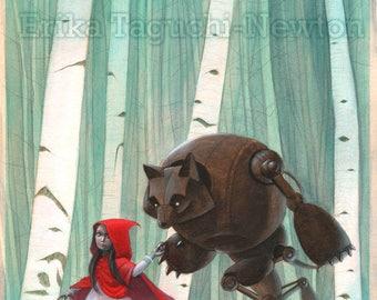 Red Riding Hood 9x12 Art Print