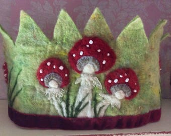 Toadstall Crown - Waldorf Crown - Woodland Crown - Festival Crown - Kindergarten Crown - Fairy Crown