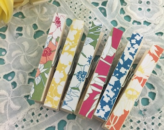 Garden Party Magnetic Clothespins Set of 6