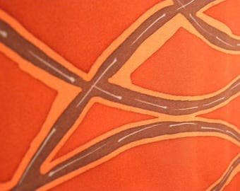 Vintage haori S739, smoky orange color,  silk