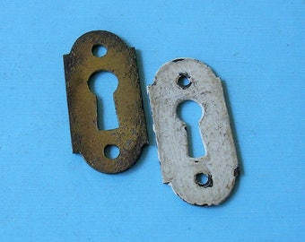 Antique Vintage Keyhole Key Hole Cover Covers Escutcheons Steampunk Jewelry Ornate DIY Jewelry Keyhole Covers