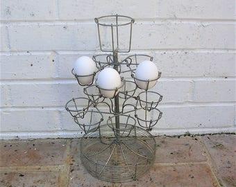 Vintage Egg Holder Vintage Primitive Metal Egg Holder