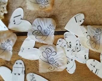 Music Theme Wedding Decor~Music Centerpiece~ Music Wedding Petals~Centerpiece Table Confetti~Bridal Shower Centerpieces for Table~Rose Petal