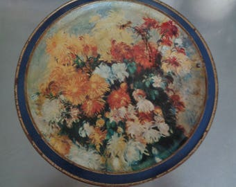 Vintage Extra Large Round Tin Can Sunshine Biscuits Inc