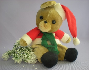 Vintage Teddy Bear, Collectible Toy, Sister Gift, Musical Teddy Bear, Christmas Teddy Bear, Wind Up Toy,  Christmas Sale