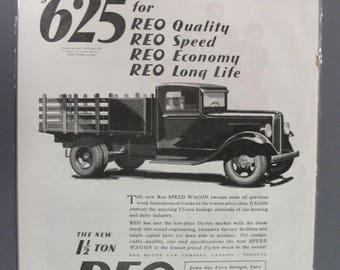Truck  #102  Reo Speed Wagon      Magazine Ad - September  1931