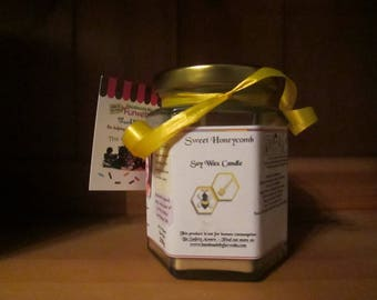 Sweet Honeycomb Scented Soy Wax Candle 300g