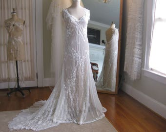 1920s wedding dress etsy art deco ivory lace wedding gown one of a kind 1920s inspired wedding dress junglespirit Choice Image