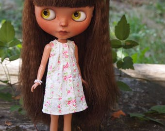 Pintuck Shift Dress for Blythe Dolls