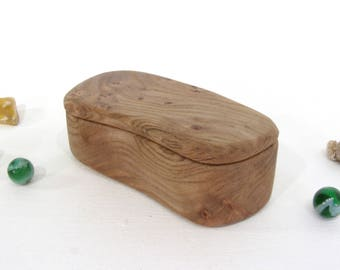 Birdseye Butternut Wood Box, guitar pick holder, engagement ring box, proposal box, gift for groom, ring bearer box, outdoorsy gifts