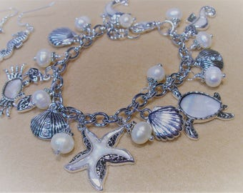 Seaside Collection Mother of Pearl Sea Charm Bracelet
