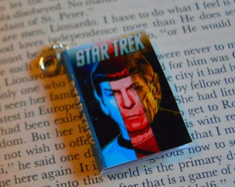 Star Trek - Zipper Charm - Purse Charm - Keychain - Free Shipping