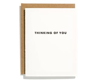 Futura Thinking of You - Letterpress Sympathy Card - CS162