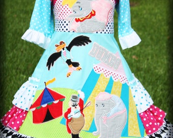 Girl's Two-Piece Disney Dumbo Dress Ready to Ship size 5 6