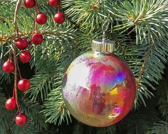 Swirl paint glass ornament