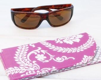 Sunglass Case, Glass Sleeve, Cases for sunglasses , Funky Sunglasses case, Sunglass sleeves, Pink Crush Sunglass Case