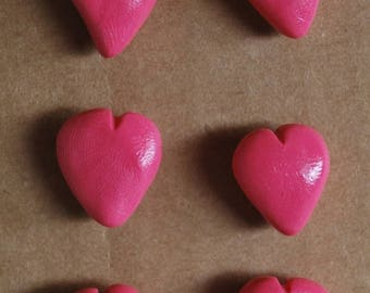Decorative Pushpins, Home Decor, Office Decor, Thumbtacks, Thumb tacks, Push pins, Pushpins, Heart Pushpins, Heart Thumbtacks