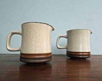 Potter's Wheel Denby Langley Stoneware, Made in England, Potter's Wheel Rust-Orange Milk Jug- 2 Available