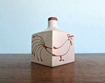 Otagiri Mercantile Company OMC, Vintage Japan Stoneware Weed Pot - Bud Vase
