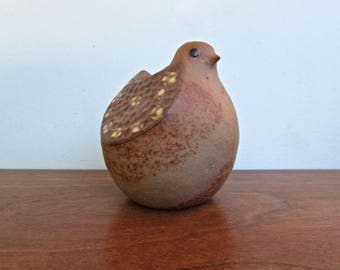 Stoneware Bird Planter by Counterpoint Japan, Imported into San Francisco in the 1970s, Artist Handmade.