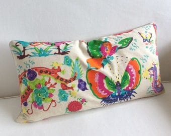Mandarin brights pillow includes insert  ready to ship  ooak