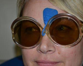 "Vintage, 60s, Jackie ""O"", Sunglasses, Round Frames, Dead Stock, Never Used, Plastic Frames, Opti-Shield"