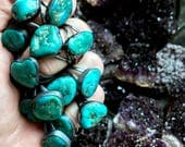 Raw Turquoise ring | Chunky turquoise ring | Turquoise stone ring | Turquoise jewelry | Organic stone jewelry | Mineral ring | Be