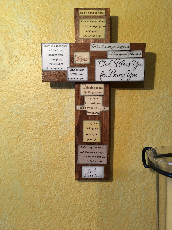Large God\'s World Embellished Decorative Wood Religious Christian ...
