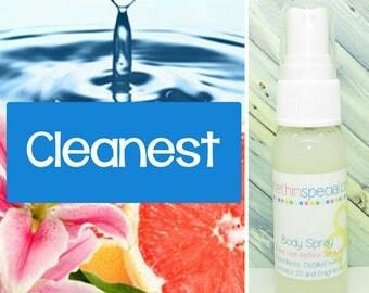 Cleanest Body Spray, Room Spray, Kids Spray, Bath Spray, Pet Spray, Alcohol Free Spray, Hair Perfume, Clean Body Spray, Bathroom Spray
