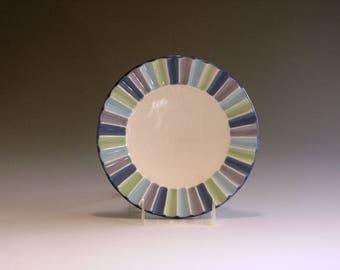 Four color porcelain salad plate