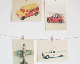 Transport Postcards, Colourful Retro Postcards, Affordable Art for Kids - Transport