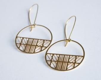 Art Deco Circle Earrings | ATL-E-219