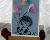 Hard Day Aceo Artist Trading card original artwork