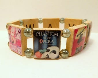 BROADWAY HITS / Scrabble Bracelet / Handmade Jewelry / Musical Theater