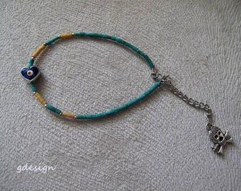 Afgani bead bracelet, Kaballah Bracelet,  Evil Eye Bracelet, Good Luck Bracelet, Afgani bead bracelet, Charm Bracelet