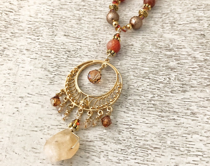 Featured listing image: Illuminate Necklace / Citrine / Fire Agate