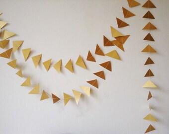 Garland Multi Pack, Wedding Package, Wholesale, Gold Triangle Garland, Wedding Decor, Geometric, Christmas, Wedding Decor, Paper Garland,