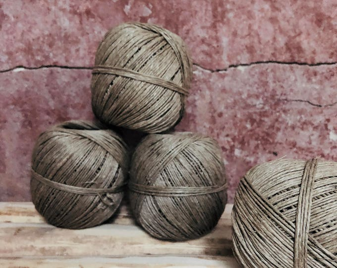 linen fibre twine, linen cord, linen string ,natural product 90 meters ( 295 ft ) Diameter around 1.3 mm