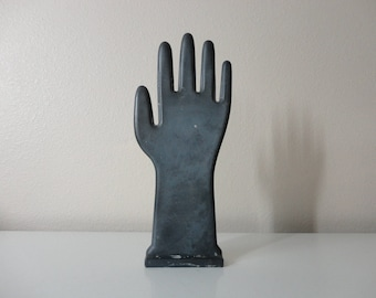 VINTAGE hand GLOVE MOLD - hand display - hand sculpture