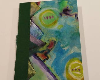 Painted Hard Canvas Journal 2