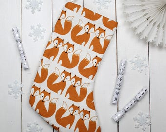 Foxy Fox Christmas Stocking Animal Xmas Decoration