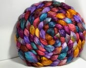 Spinning Fiber BFL/Bombyx 60/40 Combed Top - 7.5oz  - Firelight 1