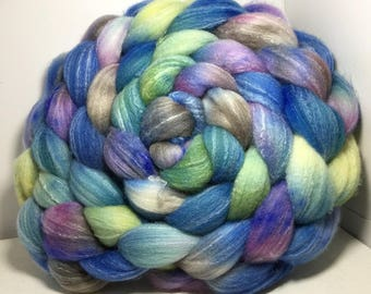 Targhee Silk Bamboo 80/10/10 Roving Combed Top - 5oz - Cloud Myst 2